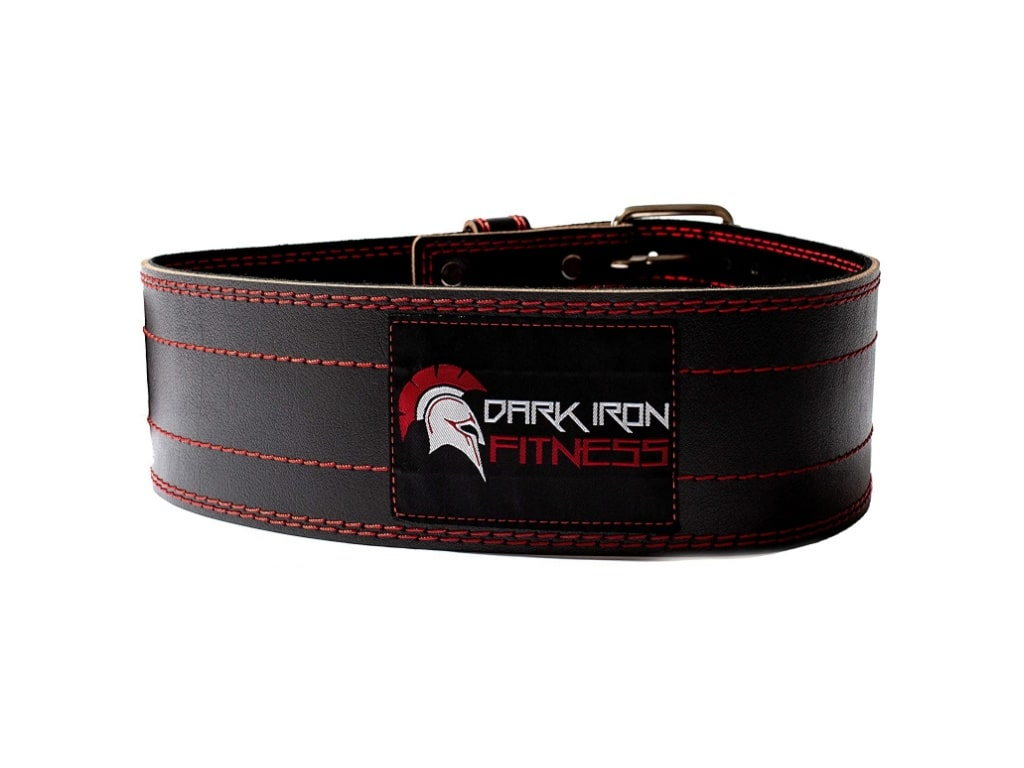1. Dark Iron Fitness Pro Weight Lifting Belt - best weight lifting belt for crossfit, best weight lifting belt for powerlifting, best weightlifting belt