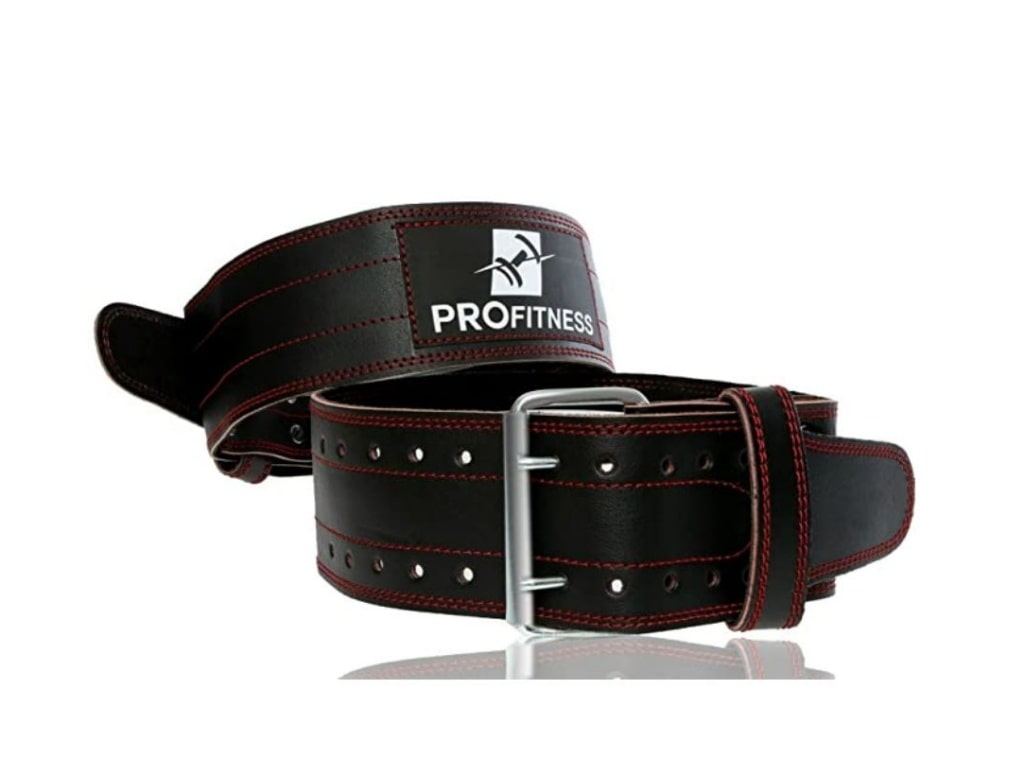 5. ProFitness Genuine Leather Workout Belt - best weight lifting belt for crossfit, best weight lifting belt for powerlifting, best weightlifting belt