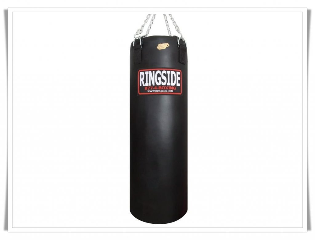 2. Ringside 100 Pound Power Hide Boxing Punching Heavy Bag-Best Punching Bags for Appartments