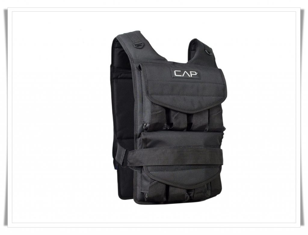 5. CAP Barbell Adjustable Weighted Vest - Best Weighted Vest for CrossFit